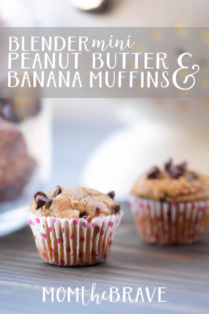 mini peanut butter banana muffins