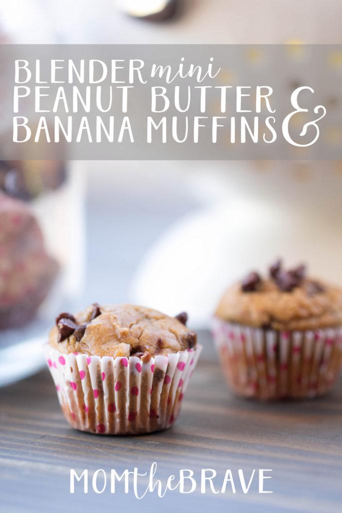 mini peanut butter banana muffins