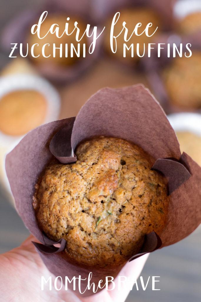 dairy free zucchini muffins